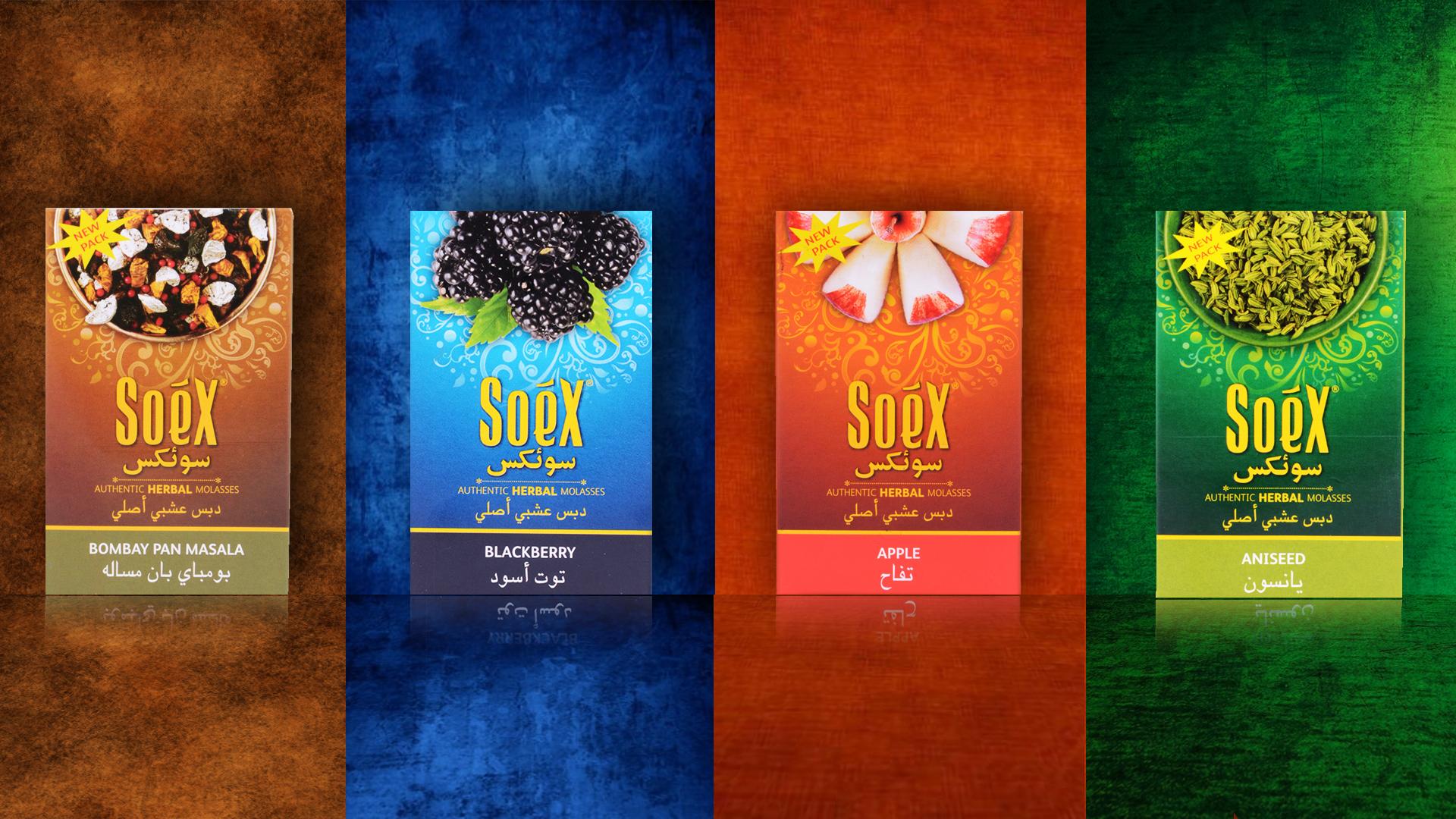 Натуральные безникотиновые смеси для кальяна Soex