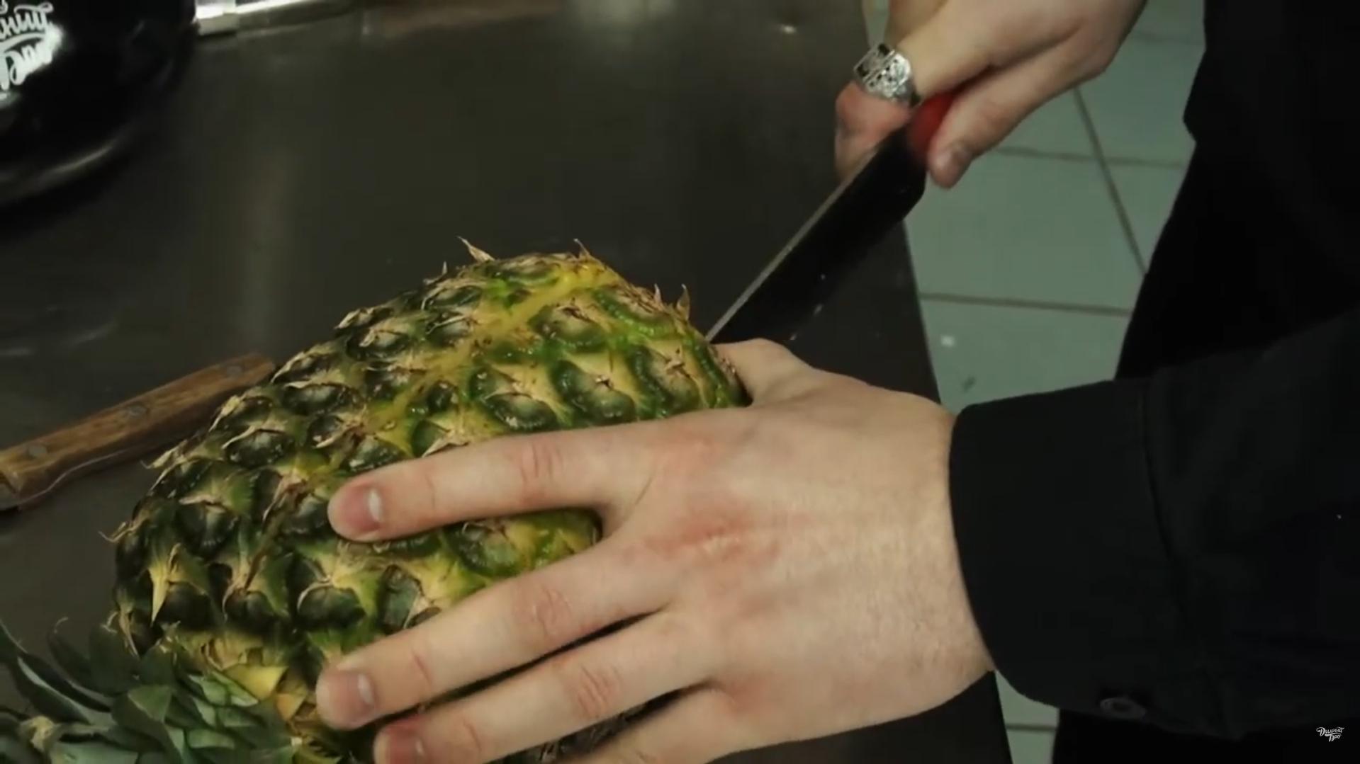 продольный разрез ананаса для кальяна