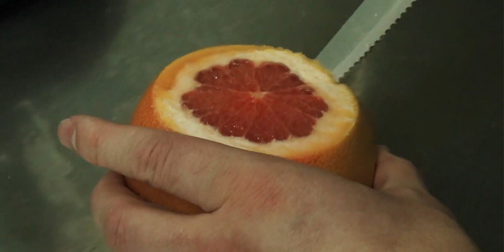 Как сделать чашу для кальяна из грайпфрута | шаг 1