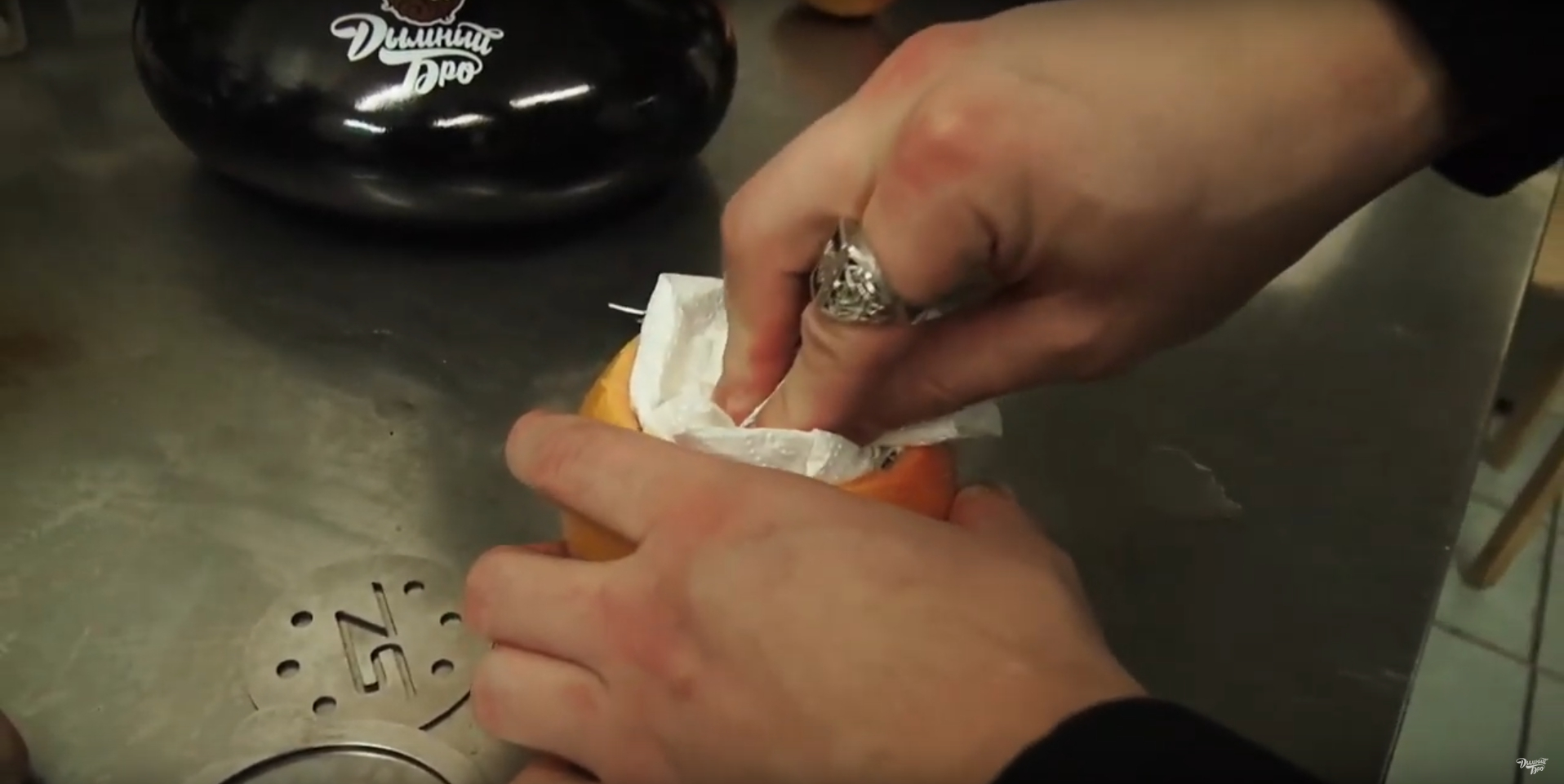 Как сделать чашу для кальяна из грайпфрута | шаг 2