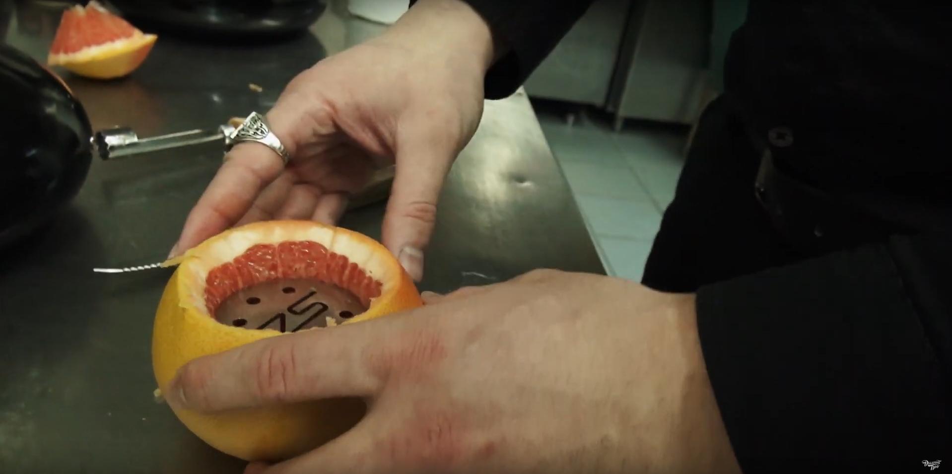 Как сделать чашу для кальяна из грайпфрута | шаг 4