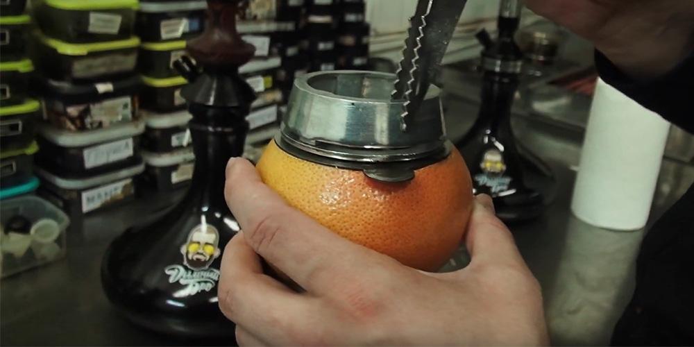 Как сделать чашу для кальяна из грайпфрута на колауде | шаг 6